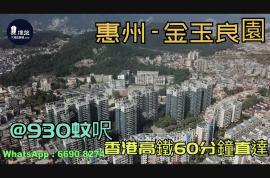 金玉良園_惠州|首期3萬(減)|@930蚊呎|香港高鐵60分鐘直達|香港銀行按揭(實景航拍)